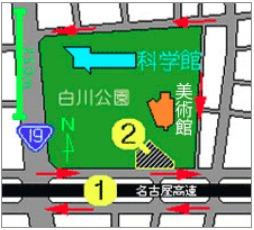 名古屋市科学館のマーベル展駐車場