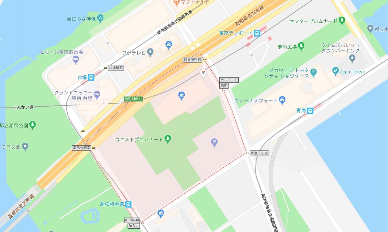 肉フェスTOKYO2018地図
