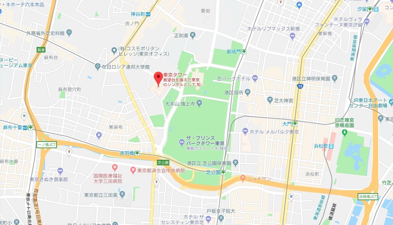 TOKYO TOWER CITY LIGHT FANTASIA ~夜桜バージョン~周辺地図