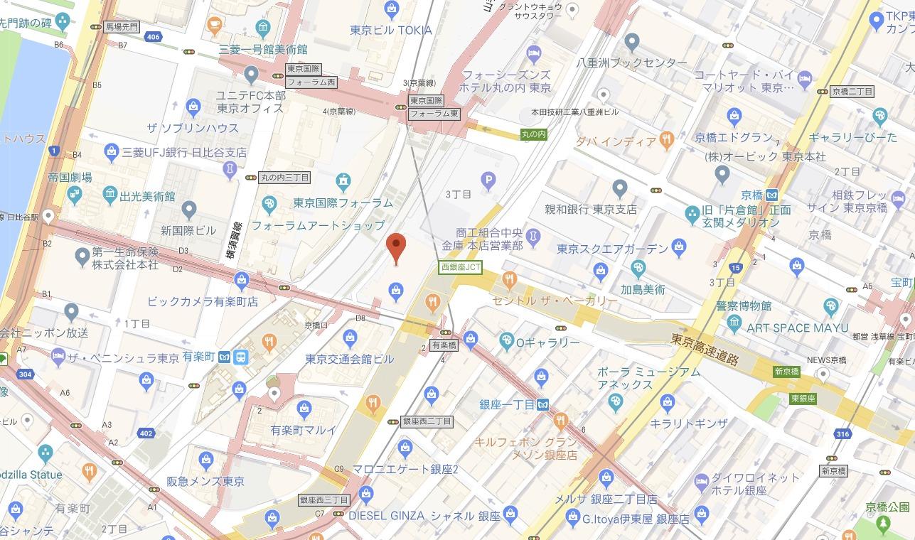 B'z展周辺地図