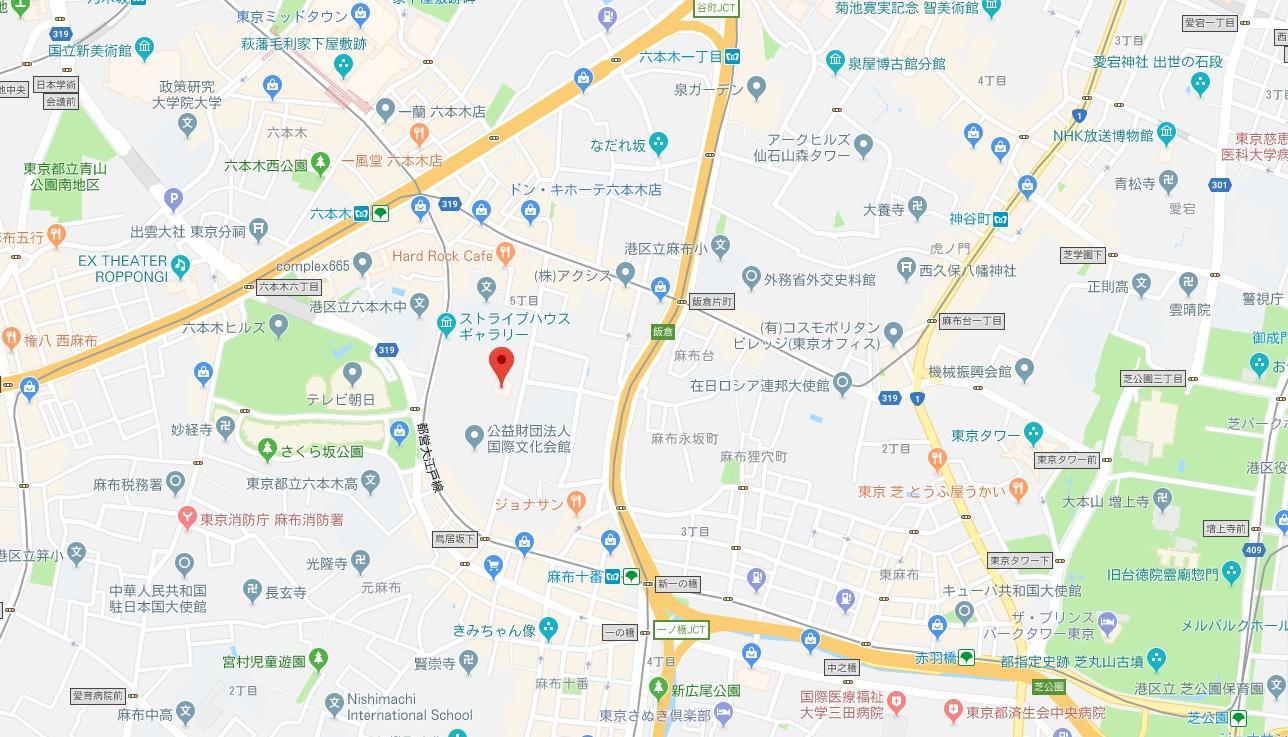 スヌーピーミュージアム周辺地図