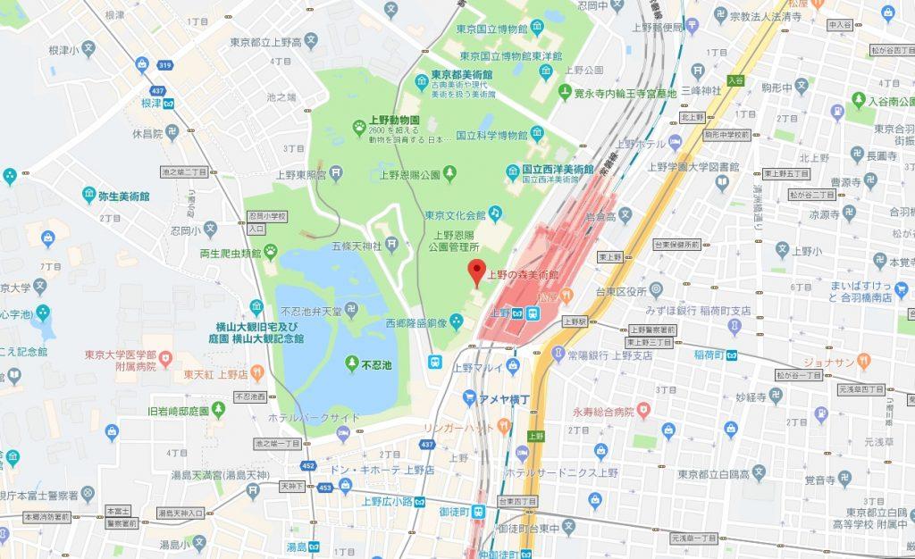 ミラクルエッシャー展地図