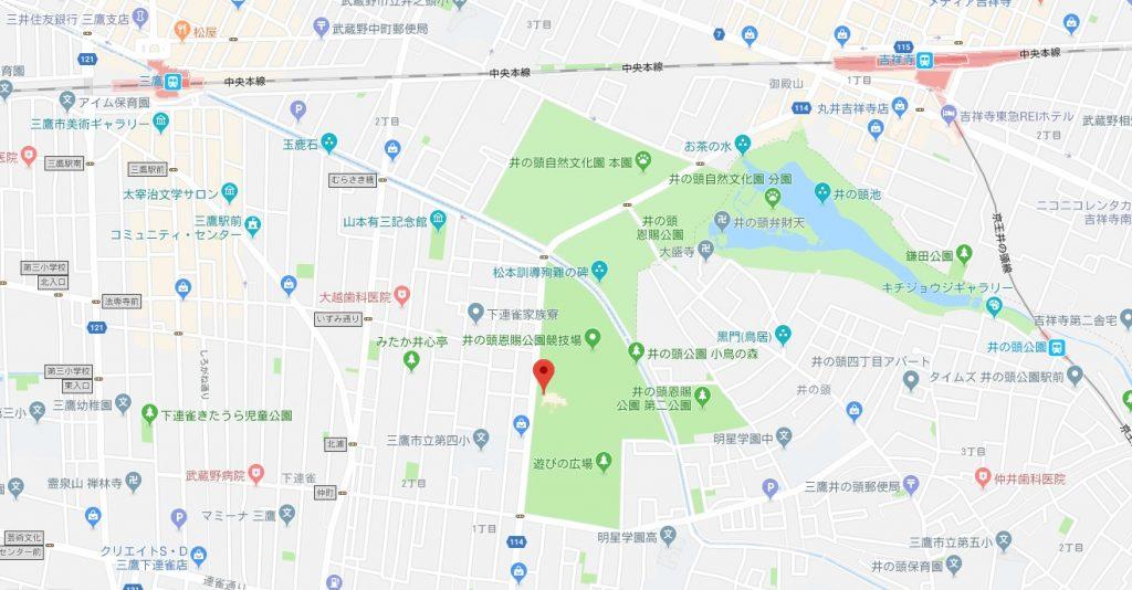 三鷹の森ジブリ美術館周辺地図