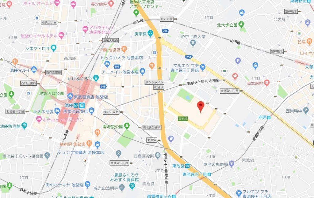 化ケモノ展周辺地図