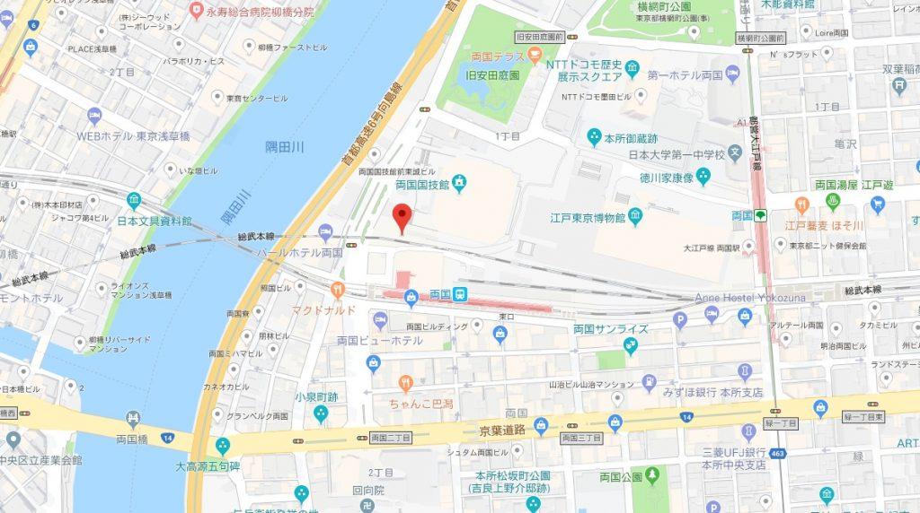 江戸ねこ茶屋周辺地図
