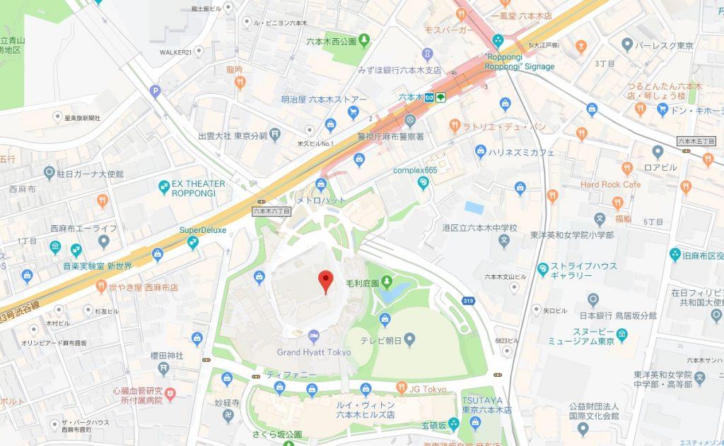 建築の日本展周辺地図
