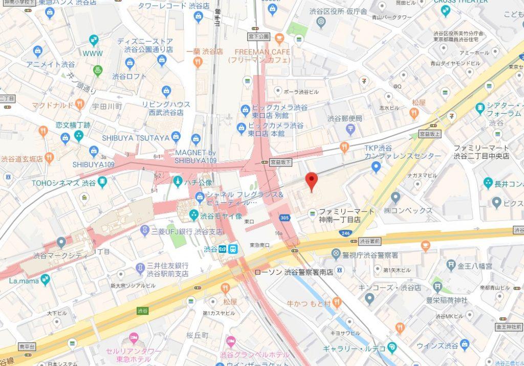 安室奈美恵展示会周辺地図