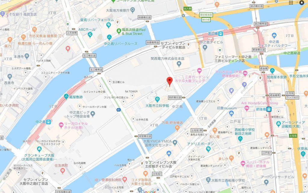 プーシキン美術館展周辺地図