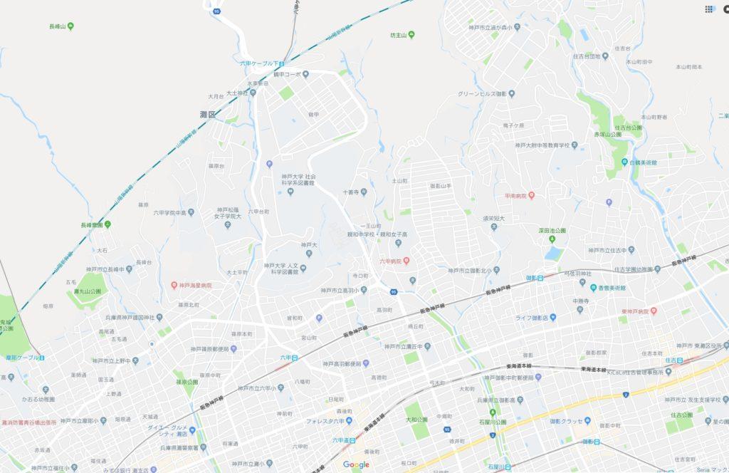六甲ミーツ・アート 芸術散歩2018周辺地図