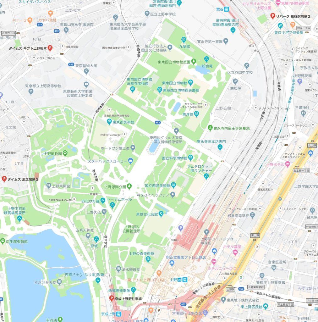 東京国立博物館周辺駐車場